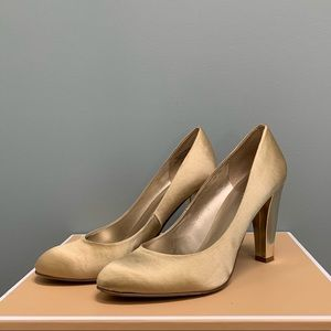 Nine West Gold Satin heels